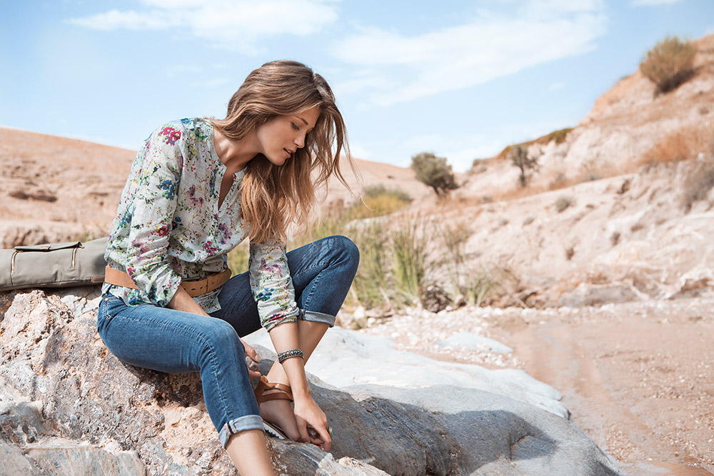 Dreiviertel Pioneer: Jeans kommen nie aus der Mode. ⓒ Ahlers